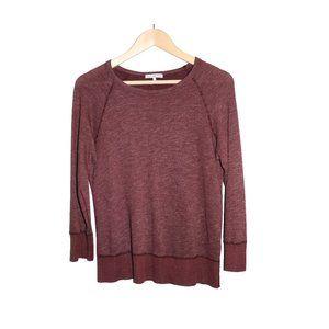 Standard James Perse Burgundy Loung Sleeve Shirt